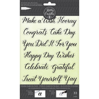 American Crafts - Kelly Creates - Acrylic Traceable Stamps - Celebration