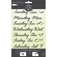 American Crafts - Kelly Creates - Acrylic Traceable Stamps - Days of the Week