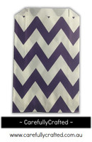 12 Favour Paper Bags - Chevron - Dark Purple  #FB30