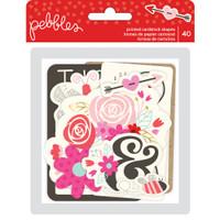Pebbles - Forever My Always Ephemera Cardstock Die Cuts - Set of 40