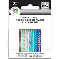 Me and My Big Ideas - The Happy Planner - Mini Washi Tape - 3mm - Set of 10 - Blue Hues