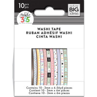 Me and My Big Ideas - The Happy Planner - Mini Washi Tape - 3mm - Set of 10 - Pastel