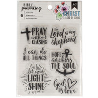 American Crafts - Bible Journaling Clear Acrylic Stamps - God is Love