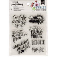 American Crafts - Bible Journaling Clear Acrylic Stamps - God is with Us