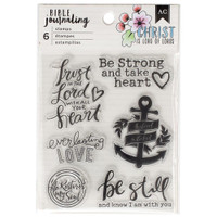 American Crafts - Bible Journaling Clear Acrylic Stamps - Trust in the Lord