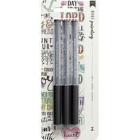 American Crafts - Bible Journaling Precision Pens - Set of 3 - Black