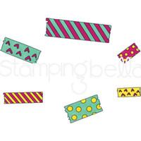 Stamping Bella - Cling Stamps - Washi Tape Set 1