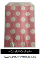 12 Favour Paper Bags - Polka Dot - Light Pink #FB38