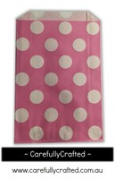 12 Favour Paper Bags - Polka Dot - Pink #FB40