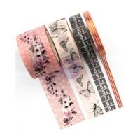 Prima Marketing - Cherry Blossom Decorative  Washi Tape - Set of 4