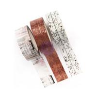 Prima Marketing - Amelia Rose Decorative  Washi Tape - Set of 3 - 15mm wide