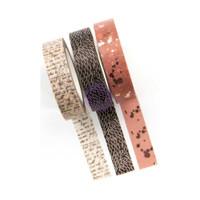 Prima Marketing - Amelia Rose Decorative  Washi Tape - Set of 3 - 10mm wide