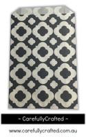 12 Favour Paper Bags - Mod Print - Black #FB42