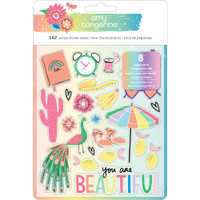 American Crafts - Amy Tangerine - Sunshine & Good Times - Sticker Book 8 Sheets