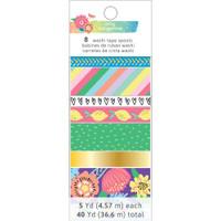 American Crafts - Amy Tangerine - Sunshine & Good Times - Washi Tape Rolls - Set of 8