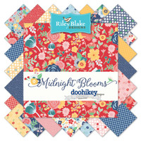 Riley Blake Fabrics - Midnight Blooms - Doohikey Designs - 10 inch Stacker