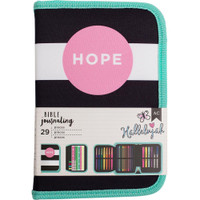 American Crafts - Bible Journaling Collection - Bible Journal Pouch - Hope - Kit