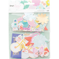 American Crafts - Dear Lizzy Stay Colorful Ephemera Cardstock Die Cuts