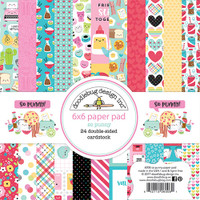 """Doodlebug Double-Sided Paper Pad 6"""" x 6"""" - So Punny"""