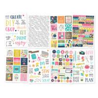 "Carpe Diem - Simple Stories - Crafty Girl Stickers - 4"" x 6"""