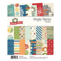 "Carpe Diem - Simple Stories - Double-Sided Paper Pad 6"" x 8"" - Travel Notes"