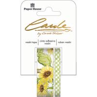 Paper House Washi Tape - Set of 2 - Sunflowers By Carol Shiber
