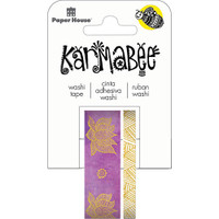 Paper House Washi Tape - Set of 2 - Lotus By Karmabee