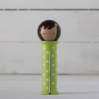 Doohikey Designs - Binding Babies Large - Green with White Dots
