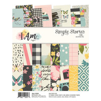 "Carpe Diem - Simple Stories - Double-Sided Paper Pad 6"" x 8"" - I Am"