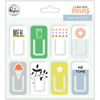 Pinkfresh Studio - A Case Of The Blahs Epoxy Clips - Set of 8