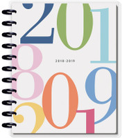 Create 365 - The Happy Planner - Me and My Big Ideas - 2018 - 2019 BIG Happy Planner® - Colorblock Type / HORIZONTAL