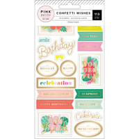Pink Paislee - Confetti Wishes 4-Page Sticker Book