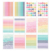 Carpe Diem - Simple Stories - A5 Sticker Book - Numbers