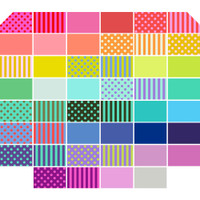 Free Spirit Fabrics - All Stars by Tula Pink  - Fat Quarter Bundle - 46 Pcs