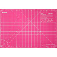 "OLFA Splash Gridded Cutting Mat 12"" x 18"" - Fairy Floss Pink"