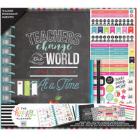 Create 365 - The Happy Planner - Me and My Big Ideas - The Happy Planner Box Kit - BIG Teacher Edition - Teachers Change The World
