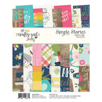 "Carpe Diem - Simple Stories - Double-Sided Paper Pad 6"" x 8"" - Crafty Girl"