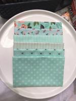 Moda Fabric - Fat Quarter Bundle - Sugar Pie by Lella Boutique - Aqua