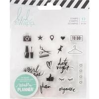 Heidi Swapp - Memory Planner Clear Stamps - Fresh Start - Everyday