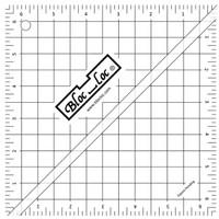 """Bloc Loc - 6.5"""" Half-Square Triangle Square Up Ruler"""