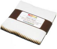 Robert Kaufman Fabric Precuts - 5 inch Squares - Kona Cotton - Neutrals Palette