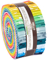 Robert Kaufman Fabric Precuts - Jelly Roll - Blueberry Park Brights