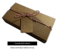 10 Kraft Paper Gift Box - 17.8cm x 9cm x 3.5cm - #B11