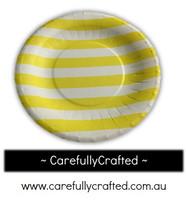16 Paper Plates - Yellow - Stripe #PP8
