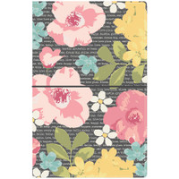 "Carpe Diem - Traveler's Notebook 5"" x 8.25"" - Floral, Typewriter"