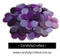 1/2 Cup Tissue Paper Confetti - Purple Shades - 1 inch Circles  - #CC3