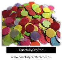 1/2 Cup Tissue Paper Confetti - Rainbow - 1 inch Circles  - #CC7