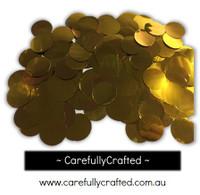 1/2 Cup Foil Paper Confetti - Gold - 1 inch Circles  - #CC9