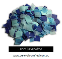 1/2 Cup Tissue Paper Confetti - Blue Shades - 0.75 inch Squares  - #CS1