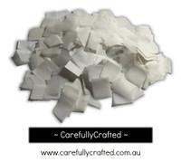 1/2 Cup Tissue Paper Confetti - White - 0.75 inch Squares  - #CS2